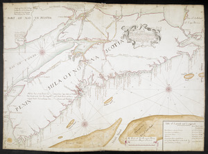 A CHART OF THE SEA COASTS OF THE PENINSULA OF NOVA SCOTIA