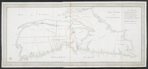 [A map of Nova Scotia showing the post roads]