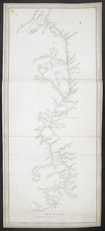 [A map showing the post route between the River St. Lawrence and the Bay of Fundy]
