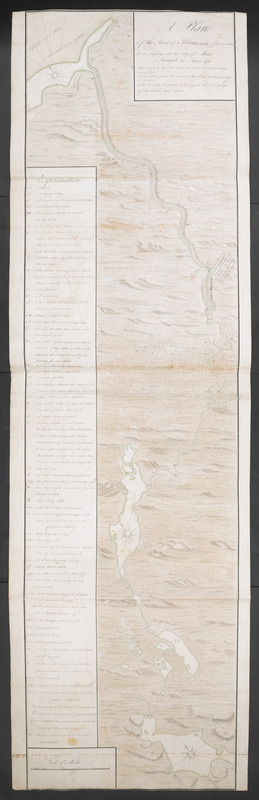 A Plan Of the River of Chibenaccadie from its Source To its Discharge into the Bay of Mines Surveyed in August 1754