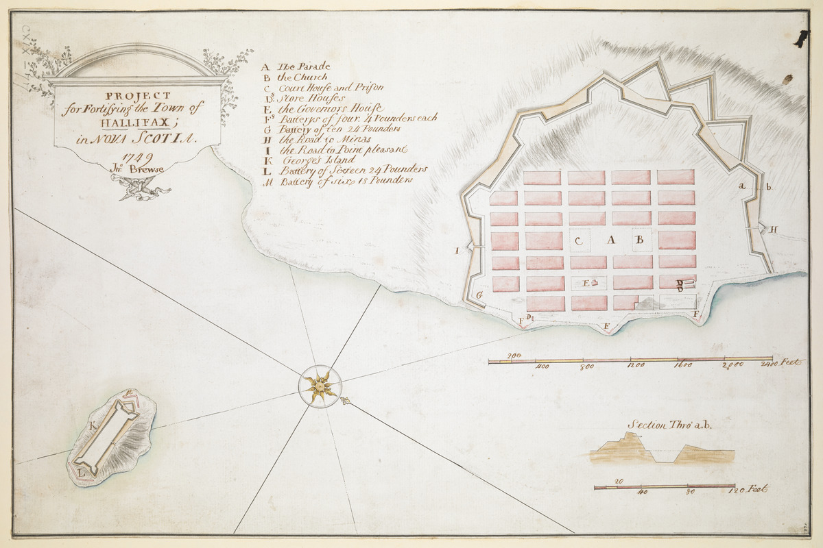 PROJECT for Fortifying the Town of HALLIFAX ; in NOVA SCOTIA