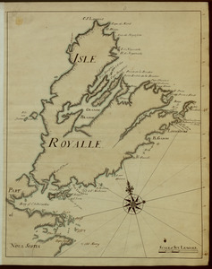 [A manuscript map of Isle Royalle]