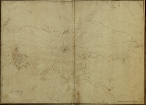 [An outline plan of the harbour and fortifications of Louisbourg]