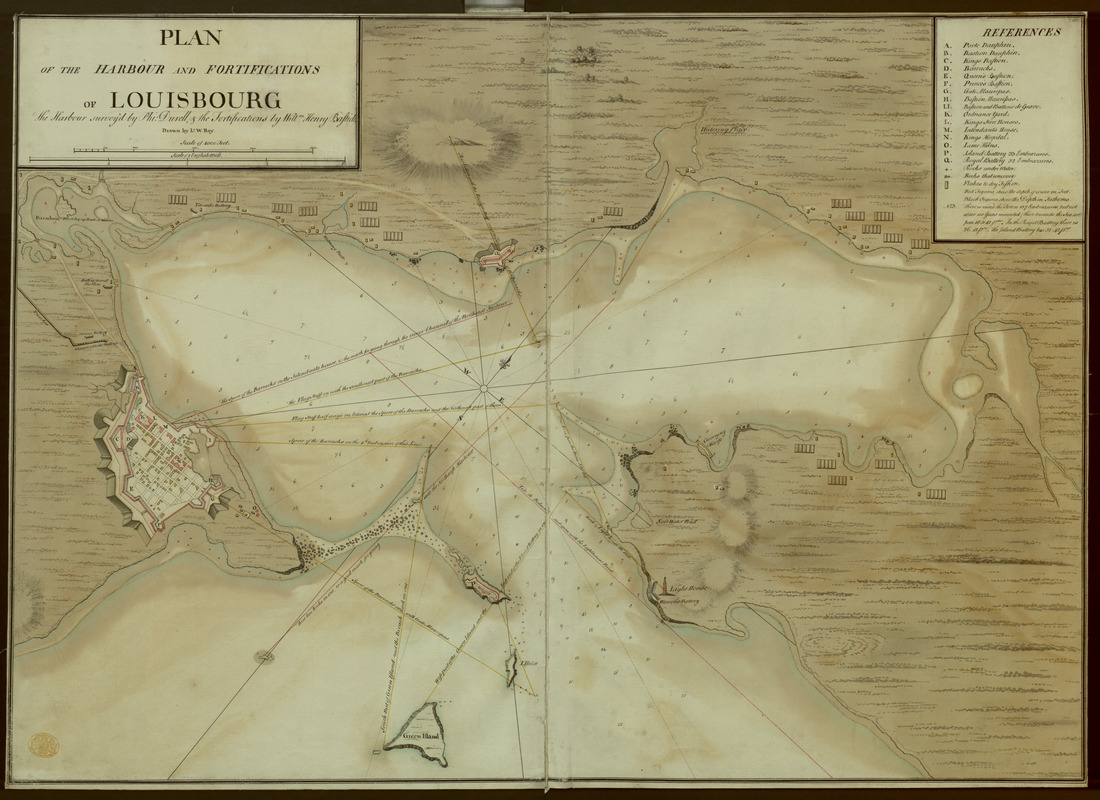 A PLAN OF THE HARBOUR AND FORTIFICATIONS OF LOUISBOURG