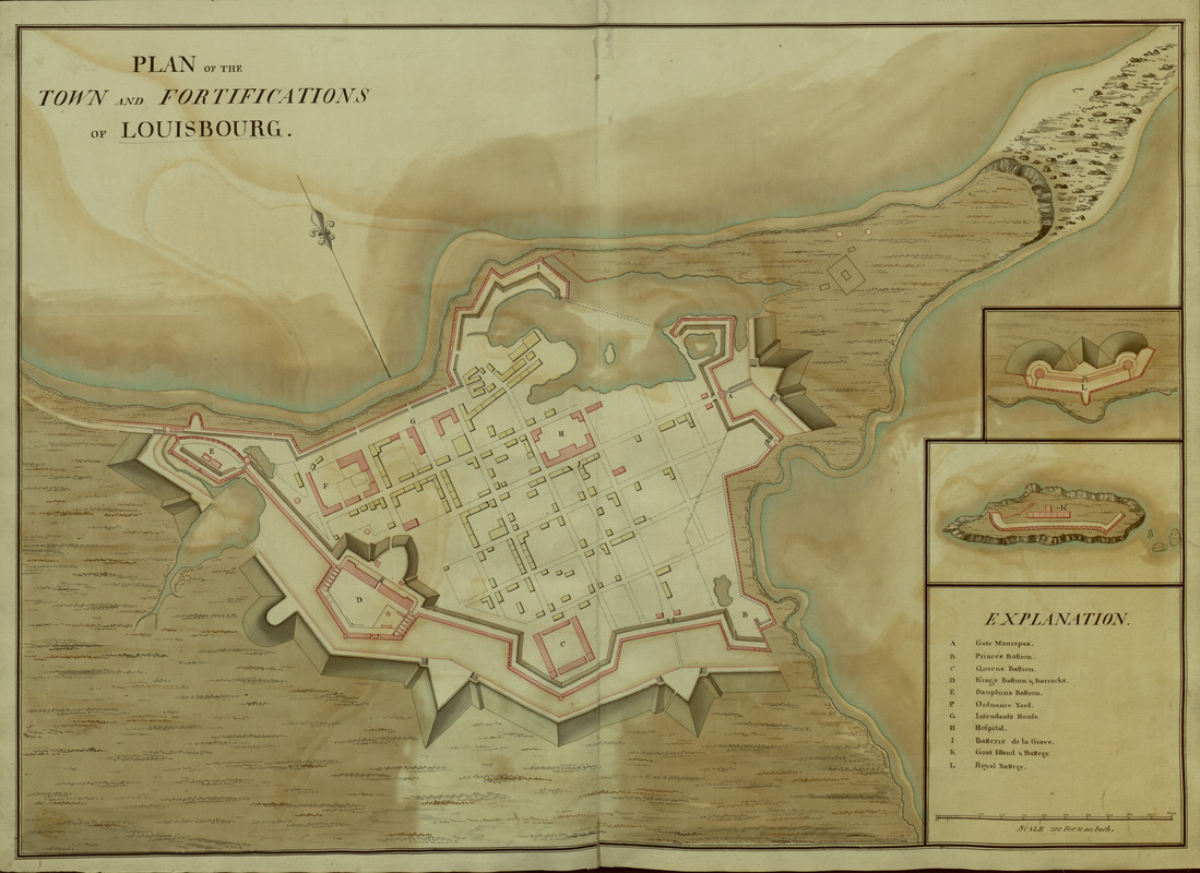 PLAN of the TOWN and FORTIFICATIONS of LOUISBOURG
