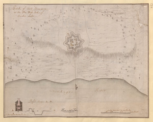 Sketch of Fort Brewerton at the The West End of Onide Lake