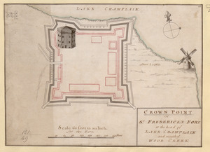 CROWN POINT or ST. FREDERICK'S FORT at the head of LAKE CHAMPLAIN and the Mouth of WOOD CREEK