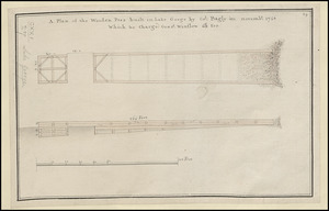 A Plan of the Wooden Peer built in Lake George by Col. Bagly in novemb:r 1756 Which he charged Genr:l Winslow 60:L for