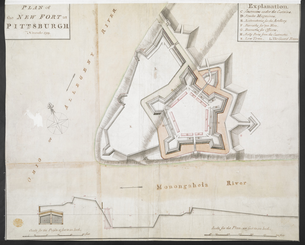 PLAN of the NEW FORT at PITSBURGH November 1759