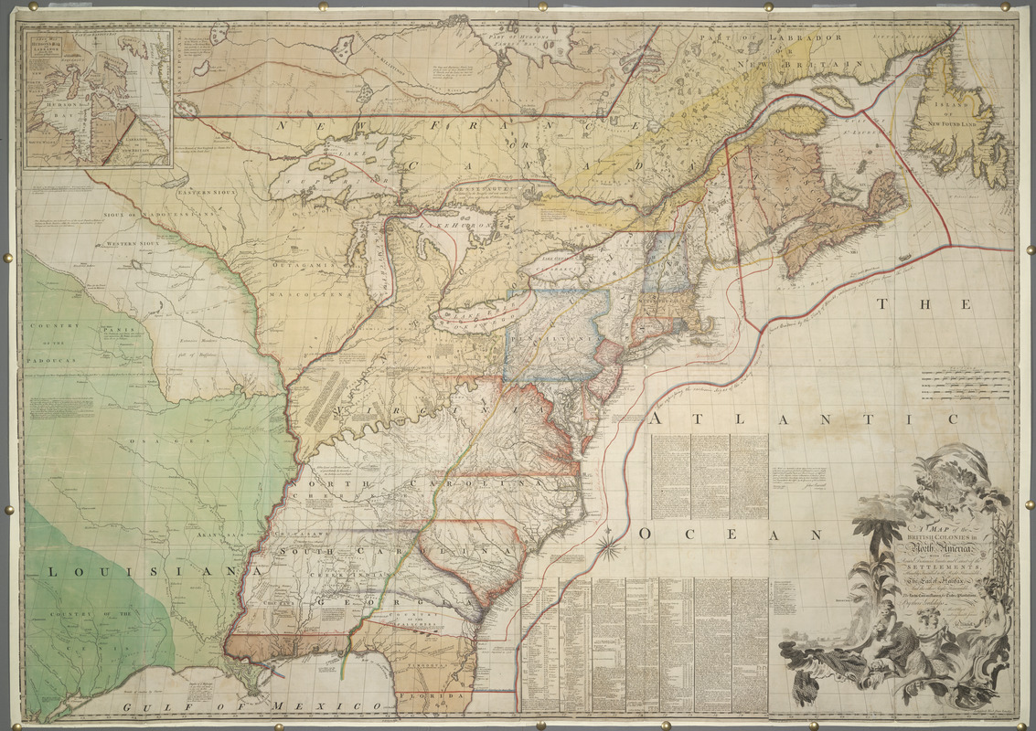 A MAP of the BRITISH COLONIES in North America