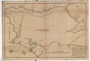 A PLAN of the Rivers and Boundary Lines referr'd to in ye Proceedings & Judgment of ye Commissioners for adjusting the Bounds between the Massachusetts Bay and New Hampshire