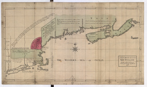 A SMALL MAP of the SEA COAST of NEW ENGLAND Together with the out Lines of Several of the Provinces Lying theron. 1738