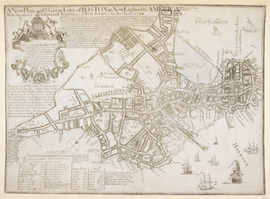 A New Plan of ye Great Town of BOSTON in New England in AMERICA with the many Additionall Buildings & New Streets to the Year, 1739