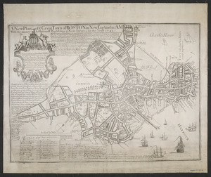 A new plan of ye great town of Boston in New England in America with the many additionall buildings & new streets to the year 1743