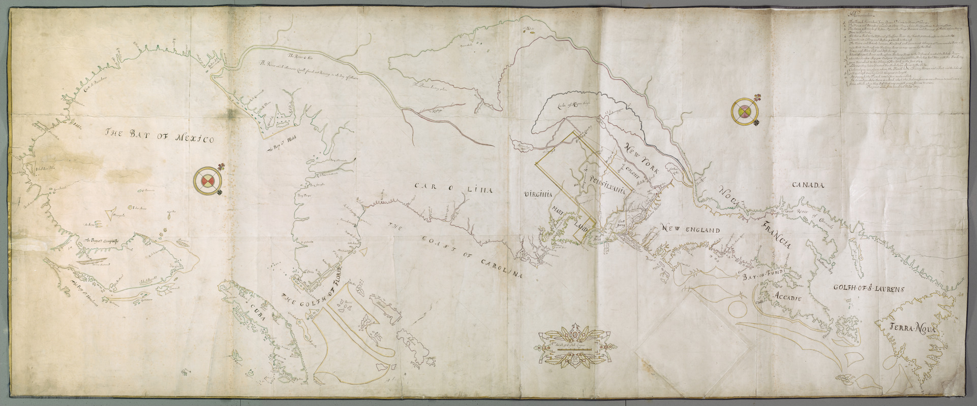 [A map of the east coast of America from Newfoundland to the Bay of Honduras]