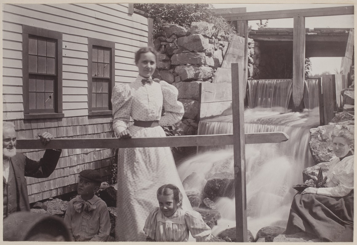 Photograph Album of the Newell Family of Newton, Massachusetts - Uncle Hamlet Wight and His Daughter Alice -