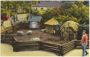 The Three Little Pigs at the Children's Zoo, Belle Isle -- Detroit, Michigan