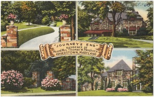 """""""Journey's End"""", residence of Mr. and Mrs. Thomas Pangborn, Hagerstown, Maryland"""