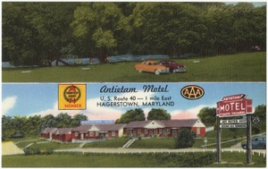 Antietam Motel, U. S. Route 40 -- 1 mile east, Hagerstown, Maryland