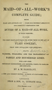 The maid-of-all-work's complete guide.