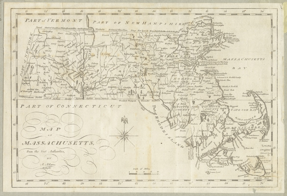 Map of Massachusetts, from the best authorities