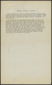 Sacco-Vanzetti Case Records, 1920-1928. Defense Papers. Personal Histories (all explaining why each person had reason to dislike Hamilton), n.d. Box 16, Folder 37, Harvard Law School Library, Historical & Special Collections