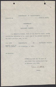 Sacco-Vanzetti Collections - Harvard Law School Library