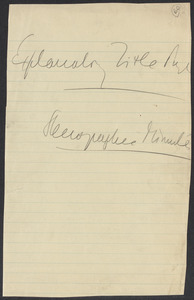 Sacco-Vanzetti Case Records, 1920-1928. Commonwealth v. Vanzetti (Bridgewater Trial).Trial Transcript, pages 1-44, 1920. Box 1, Folder 16, Harvard Law School Library, Historical & Special Collections