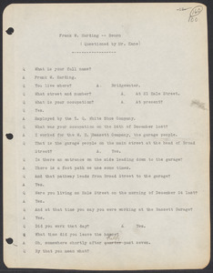 Sacco-Vanzetti Case Records, 1920-1928. Commonwealth v. Vanzetti (Bridgewater Trial). Trial Transcript, pages 100-149, 1920. Box 1, Folder 18, Harvard Law School Library, Historical & Special Collections