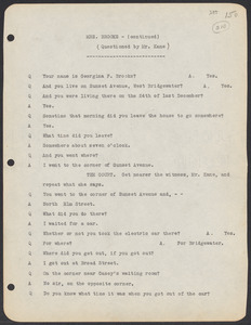 Sacco-Vanzetti Case Records, 1920-1928. Commonwealth v. Vanzetti (Bridgewater Trial). Trial Transcript, pages 150-227, 1920. Box 1, Folder 19, Harvard Law School Library, Historical & Special Collections