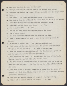 Sacco-Vanzetti Case Records, 1920-1928. Commonwealth v. Vanzetti (Bridgewater Trial). Trial Transcript, pages 31-60, 1920. Box 1, Folder 21, Harvard Law School Library, Historical & Special Collections