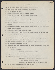 Sacco-Vanzetti Case Records, 1920-1928. Commonwealth v. Vanzetti (Bridgewater Trial). Trial Transcript, pages 244-277, 1920. Box 1, Folder 28, Harvard Law School Library, Historical & Special Collections