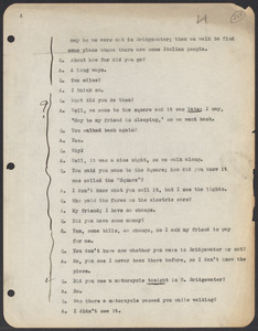 Sacco-Vanzetti Case Records, 1920-1928. Commonwealth v. Vanzetti (Bridgewater Trial). Trial Transcript, pages 288-393, n.d. Box 1, Folder 30, Harvard Law School Library, Historical & Special Collections