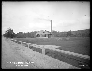 Clinton Sewerage, pumping station, Clinton, Mass., Sep. 25, 1899