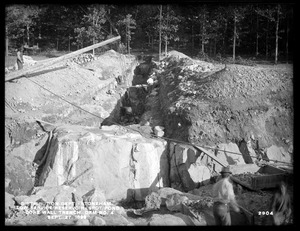 Distribution Department, Low Service Spot Pond Reservoir, trench for core wall, Dam No. 4, from the west, Stoneham, Mass., Sep. 27, 1899
