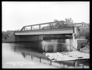 Clinton Sewerage, pipe bridge over Nashua River, Clinton, Mass., Oct. 7, 1899