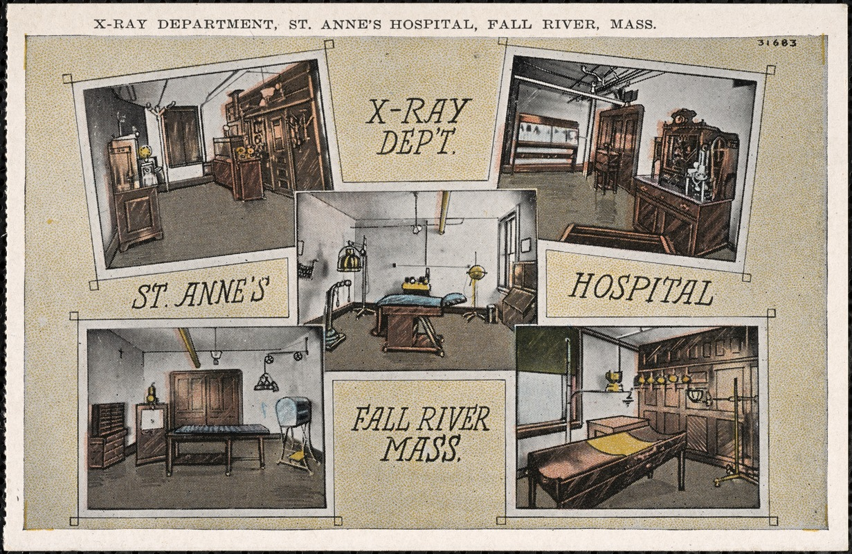 X-ray department, St. Anne's Hospital, Fall River, Mass.