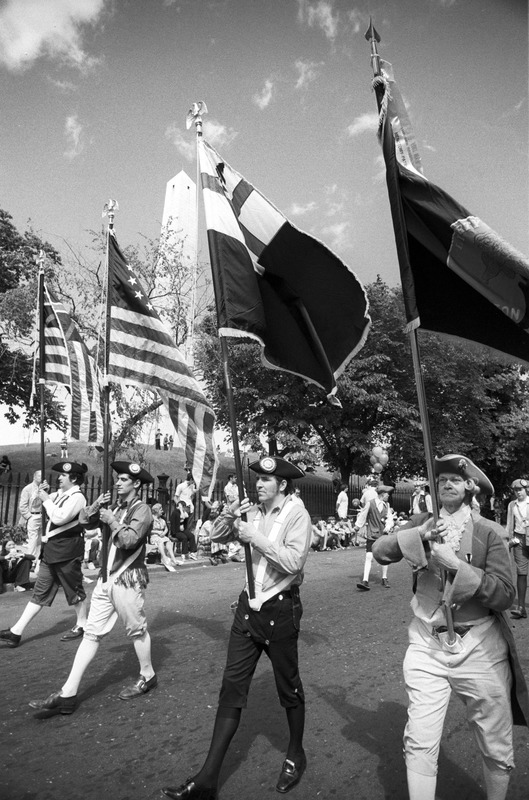 """Colonial"" marchers at 4th of July parade, Charlestown"