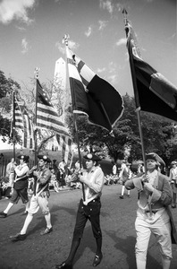 """""""Colonial"""" marchers at 4th of July parade, Charlestown"""