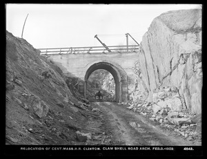 Relocation Central Massachusetts Railroad, Clamshell Road Arch, Clinton, Mass., Feb. 3, 1903