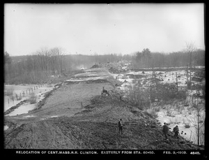 Relocation Central Massachusetts Railroad, easterly from station 80+50, Clinton, Mass., Feb. 3, 1903