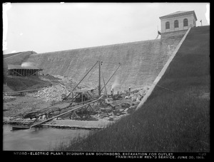 Sudbury Department, Sudbury Dam Hydroelectric Power Plant, excavation for outlet, Framingham Reservoir No. 3 service, Southborough, Mass., Jun. 30, 1915