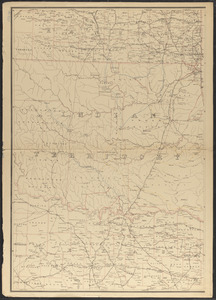 Post route map of the state of Arkansas and of the Indian Territory, with adjacent portions of Mississippi, Tennessee, Missouri, Kansas, Texas and Louisiana