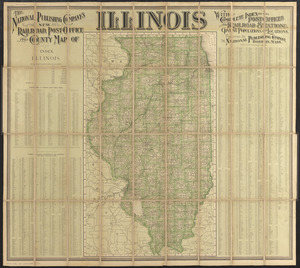 The National Publishing Company's new railroad, post-office and county map of Illinois