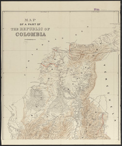Map of a part of the Republic of Colombia