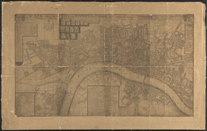 A new mapp of the city of London &c. with the many additionall buildings and new streets anno 1745 in a plain