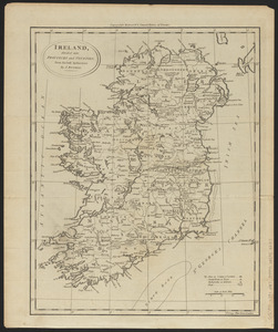 Ireland, divided into provinces and counties