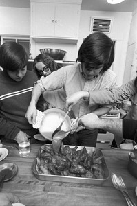 Boys-only Asian cooking class by Dean Elizabeth Toupin, Tufts University, Medford