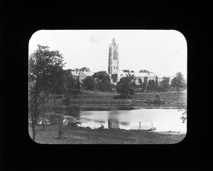 Howe Tower from Charles River, Perkins Institution, 1913