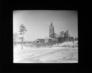 Howe Tower in Winter, Perkins Institution